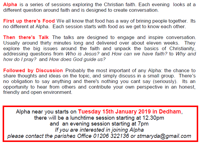 Dedham and Ardleigh Parishes : Try Alpha